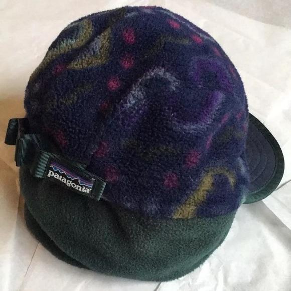1809fb64f00dc Patagonia synchilla duckbill hat ear flaps RARE.  M 5a78a3dd5512fd33d617f53f. Other Accessories ...